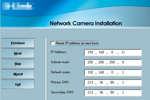 how to find the address of ip cam