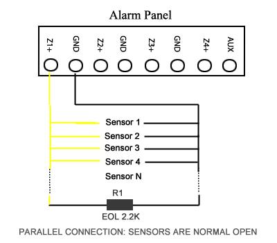 Датчик сигнализации схема