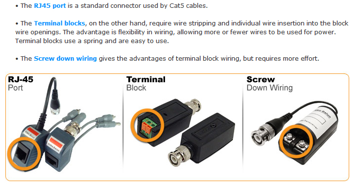 use of video balun and cat5 cable for cctv cameras technology news video balun connectors