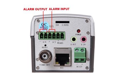 How to connect sensor to IP camera's alarm I/O?