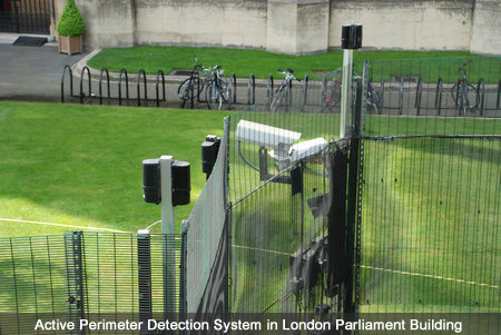 Active Perimeter Detection System in London Parliament Building