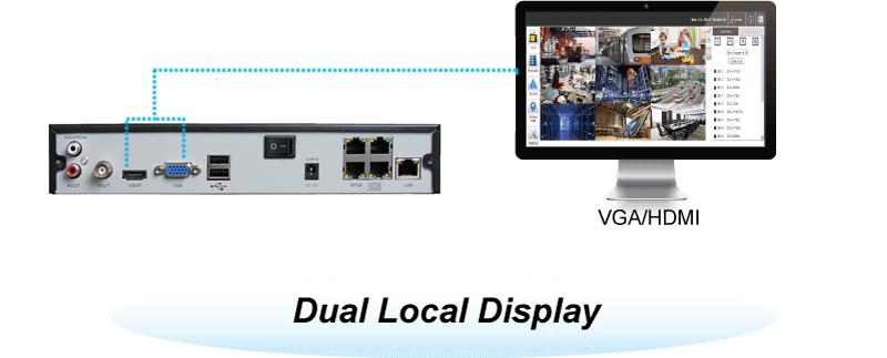 VGA plus HDMI video output
