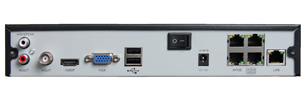 4 Channel NVR with PoE