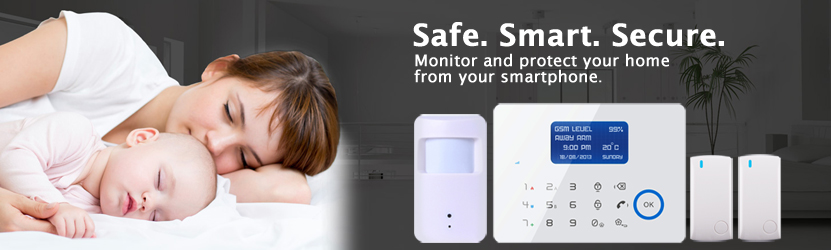 Secure wireless alarm system banner