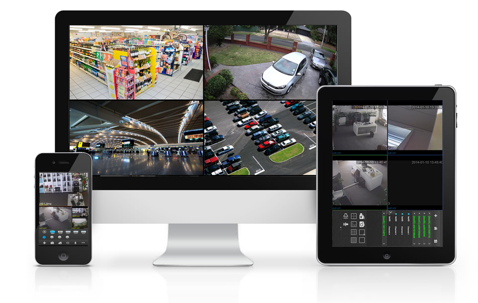 Easy remote video monitoring via smartphone/tablet/PC