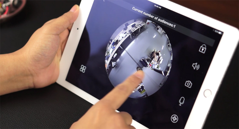 Panoramic Video Surveillance in iPad