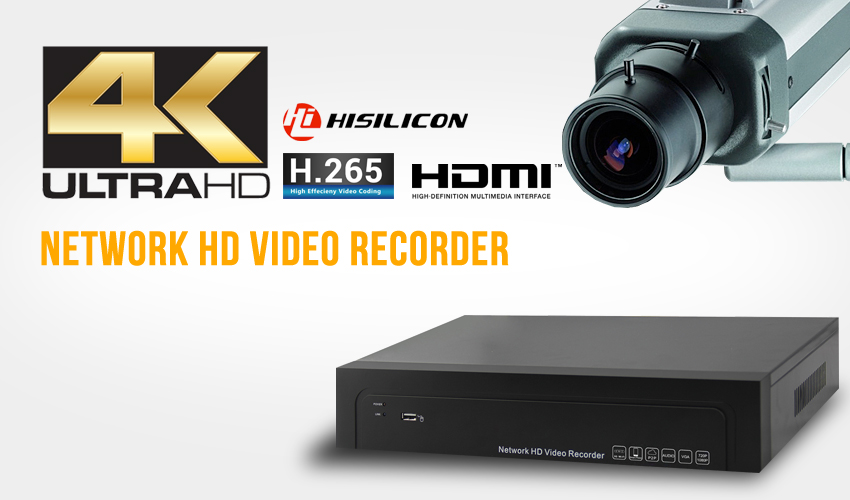 4K H.265 Network HD Video Recorder NVR