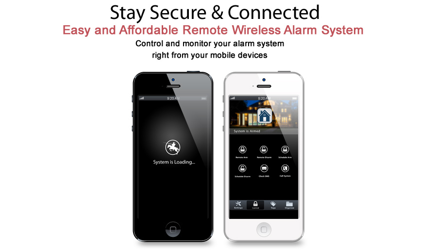 New Smart Alarm System App For Remotely Control Of Alarm
