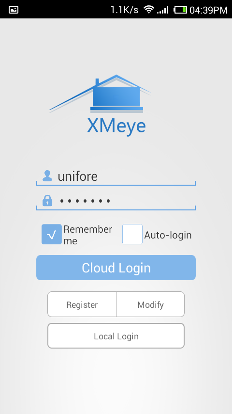 XMEye Account Login