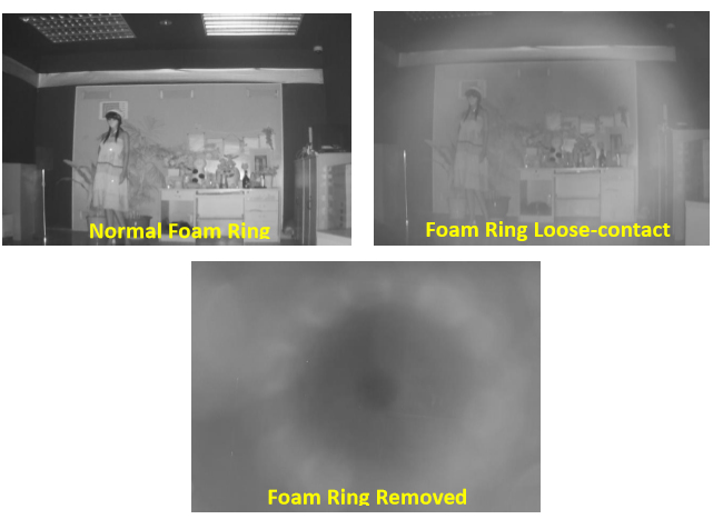 Figure 2 (IR reflection caused by foam gasket ring)