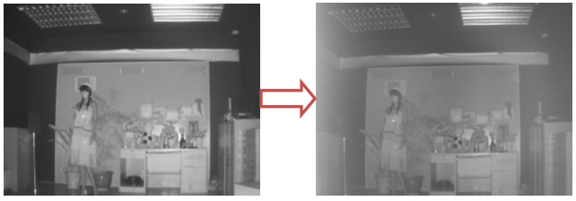 Figure 4 (Foggy image caused by barriers)