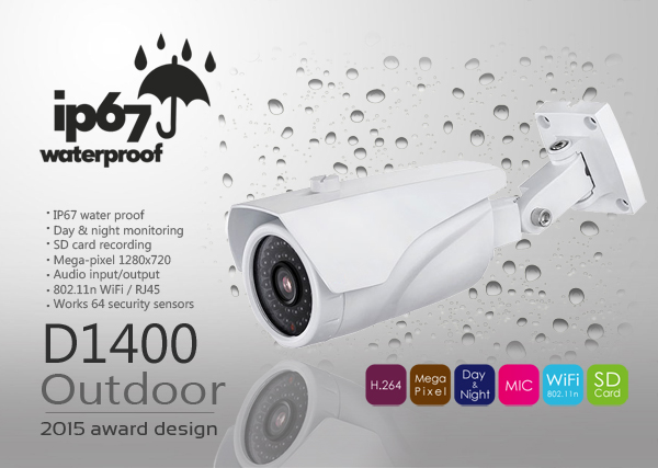 Outdoor 720p HD Network Camera