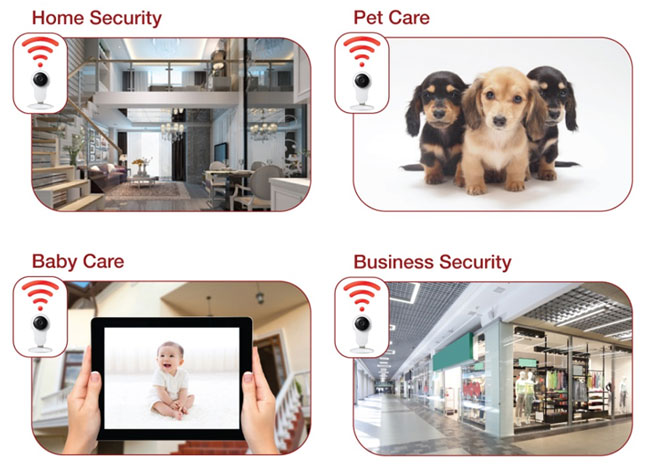D1300/D1301 HD security camera applications