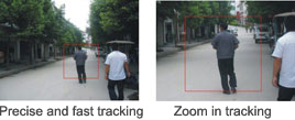 Auto tracking effect for speed dome camera