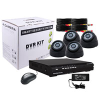 4 CH Surveillance Kit with Dome Camera
