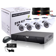 4 Channel Surveillance Kit with Bullet Camera