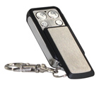 Alarm remote keyfob with slide cover