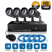 4CH 1080P Security Video Camera NVR System