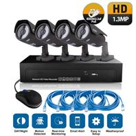 4CH PoE Camera NVR System