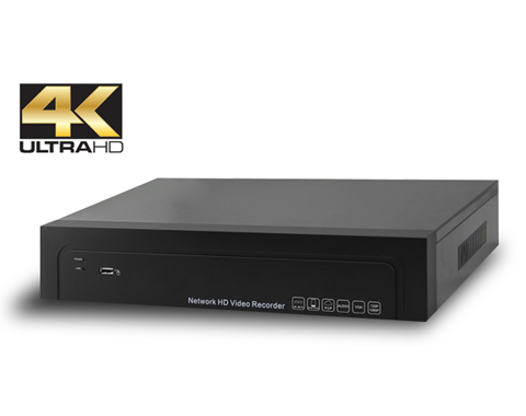 4K H 265 NVR for 8CH IP Camera System