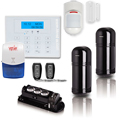 Three Beam Wired Wireless Perimeter Alarm System