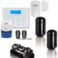 Dual Beams Wired Wireless Perimeter Alarm System